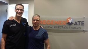 Dr. Douglas W. Stoddard MD, M Sp Med, Dip Sport Med, ES, Medical Director-Sports & Exercise Medicine Institute (SEMI) and Medical Director-RegenerVate Medical Injection Therapy. with Sean Kelly