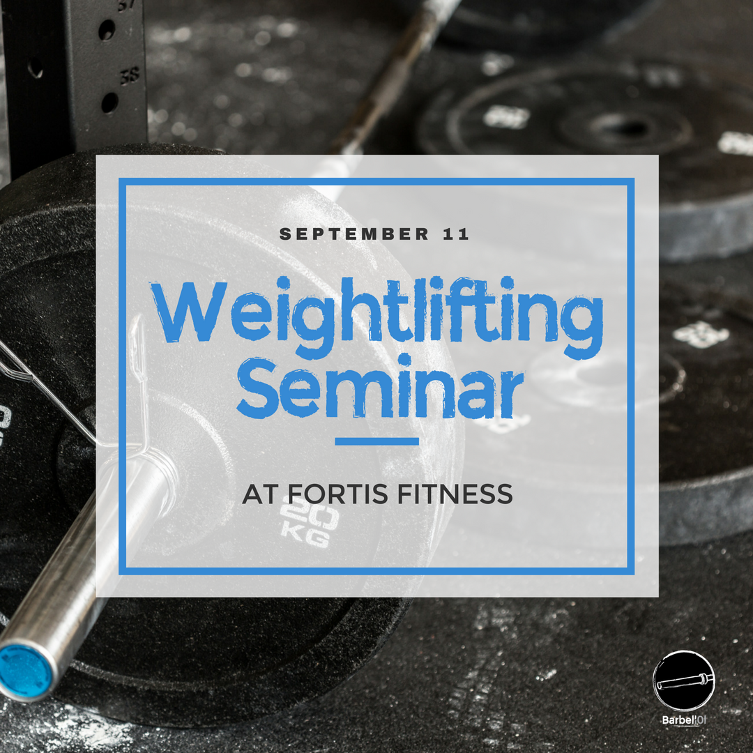 Fall Seminar Series Olympic Weightlifting
