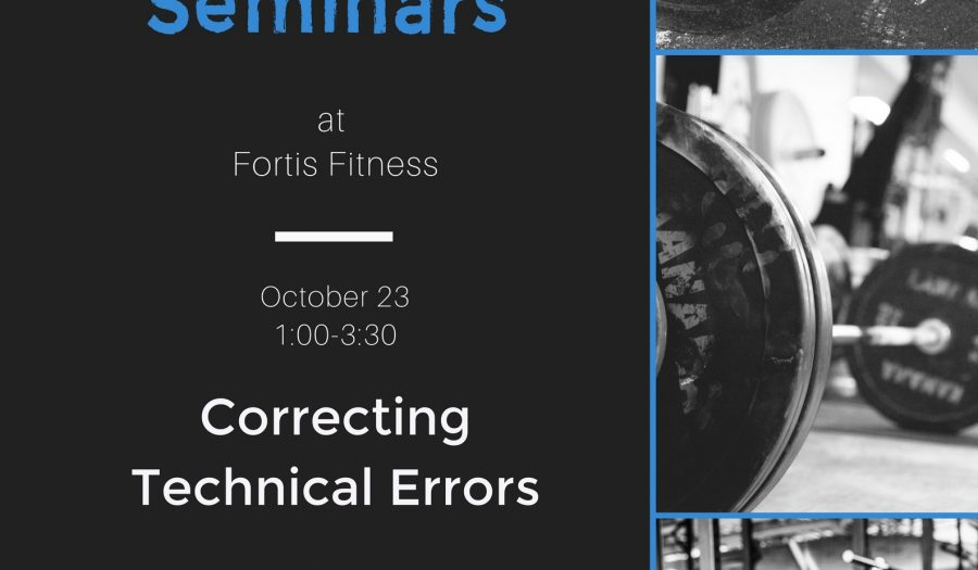 Barbells101 October Weightlifting Seminar at #FortisFitness